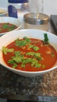 מרק עגבניות עם פסטה